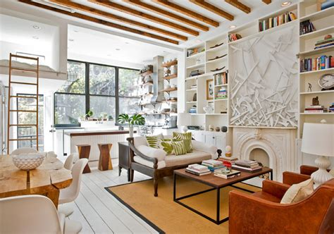 living room brooklyn sunny park slope townhouse gets an artsy makeover from the