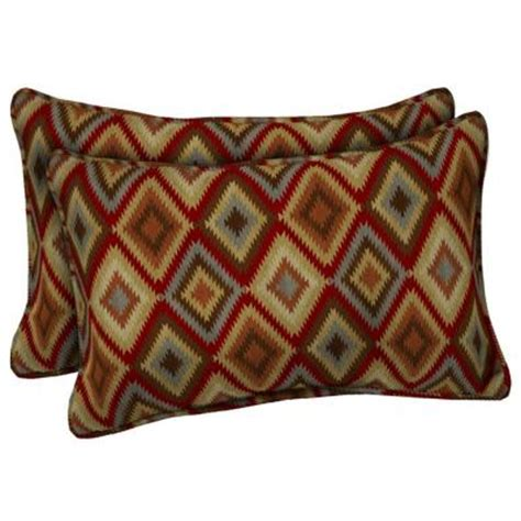 Home Depot Pillows by Hton Bay Rustic Outdoor Lumbar Pillow 2 Pack