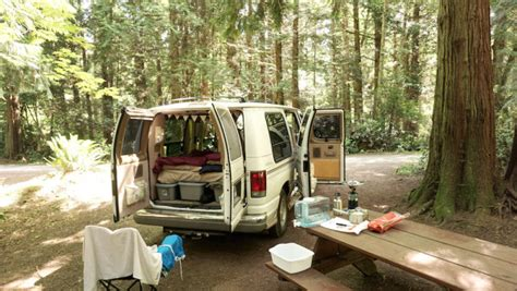 van living van dwelling couple sell everything to travel long term