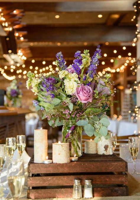 Creative Mason Jar And Wood Wedding Centerpieces Rustic Wood Wedding Centerpieces
