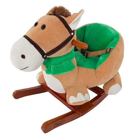 rocking horse decor promotion online shopping for promotional rocking horse decor on aliexpress happy trails plush browns rocking horse with seat m400008