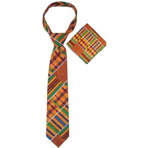 kente print tie set afrofrocks