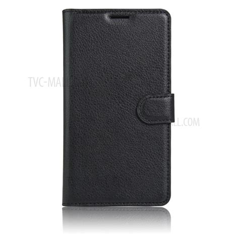 Wallet Samsung J5 Prime 2016 Premium Leather litchi skin leather wallet for samsung galaxy on5 2016 j5 prime black tvc mall