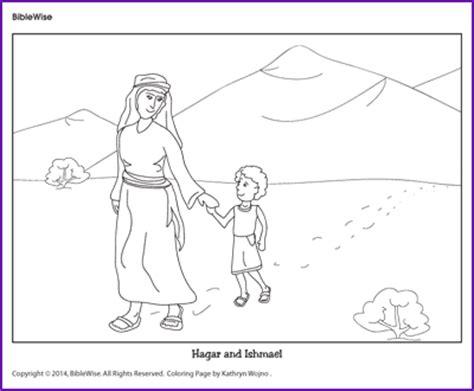 Hagar And Ishmael Coloring Page coloring hagar and ishmael korner biblewise