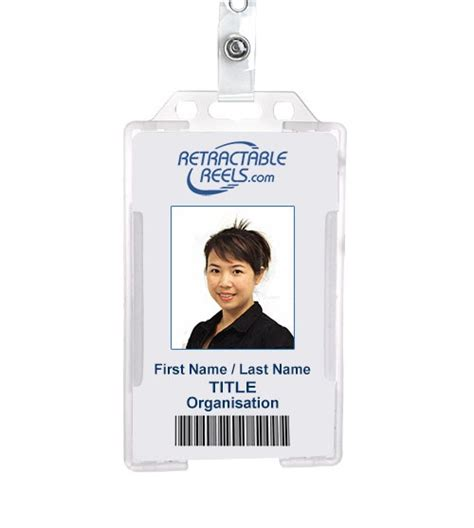 Name Tag Id Acrylic Model Vertical vertical plastic id badge holder
