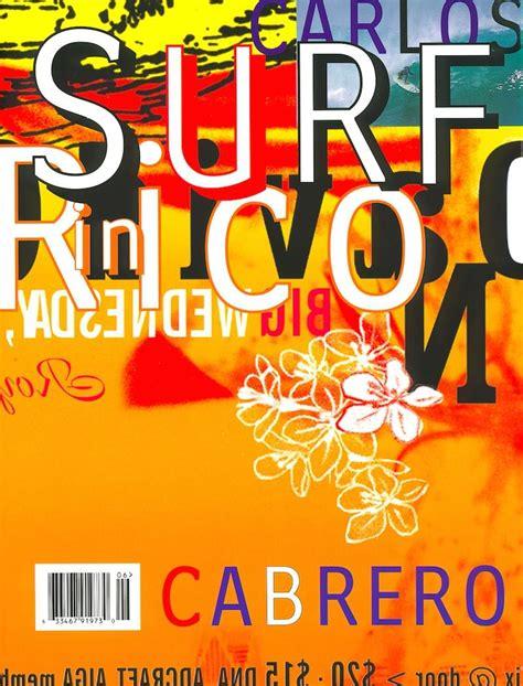 cover design  surf  rico david carson design