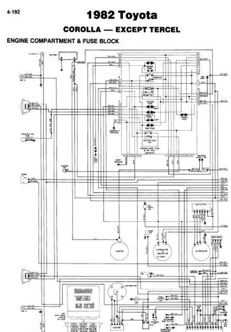 repair-manuals: Toyota Corolla 1982 Wiring Diagrams