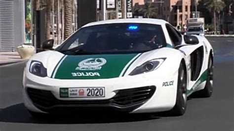 police mclaren mclaren mp4 12c patrol car hits the streets in dubai videos