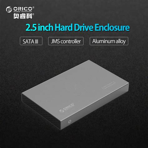 On Sale Orico Drive Enclosure 2 5 Inch Usb 3 0 2139u3 orico aluminum usb3 0 to sata3 0 5gbps 2 5 inch drive enclosure support 7mm 9 5mm gray