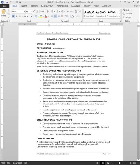 iso description template fsms description template descriptions template
