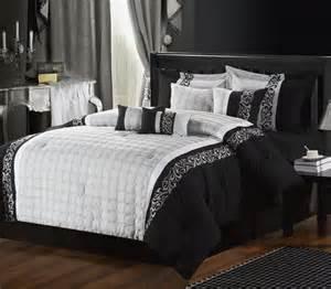 8pc luxury bedding set mackenzie grey black bedding