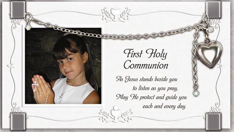 Holy Communion Giveaways - first holy communion frame with bracelet