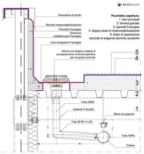 ghiaia dwg dettaglio pacchetto copertura piana autocad dwg