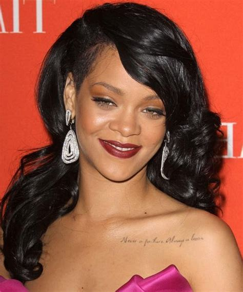 current black hairstyles 15 best collection of rihanna long hairstyles