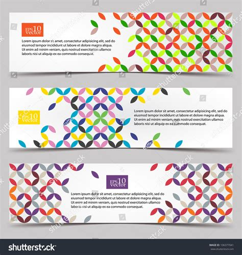 pattern search website colorful pattern web banners stock vector illustration
