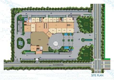 site plan urbtech npx nehru place extension lord krishna real