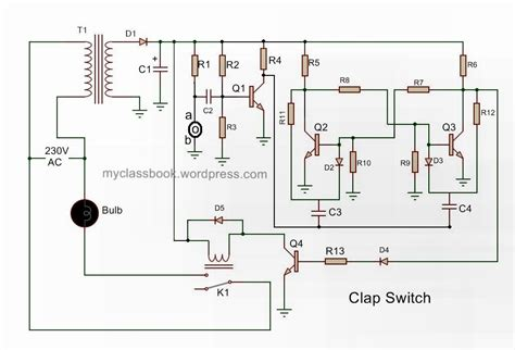 clap switch circuit electronics mini project myclassbook