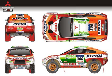 mitsubishi dakar four racing lancer will spearhead mitsubishi s bid to