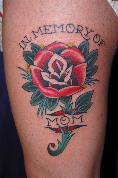 mom rose tattoos memorial picture