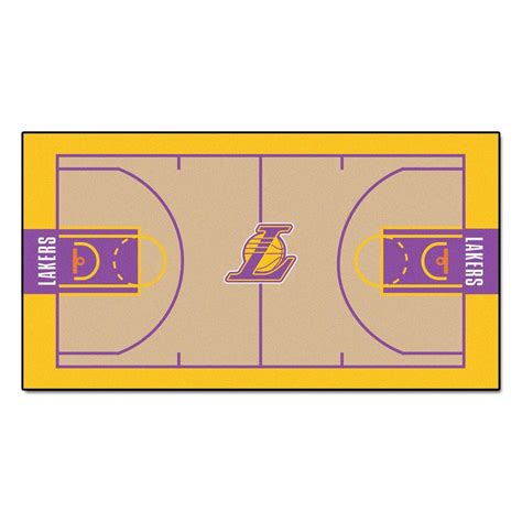 Kitchen Flooring Ideas Photos by Fanmats Nba Los Angeles Lakers 2 Ft 6 In X 4 Ft 6 In