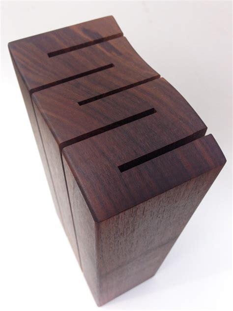 custom knife blocks wave solid walnut custom knife block