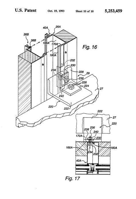 curtain wall structure patent us5253459 curtain wall structure google patents