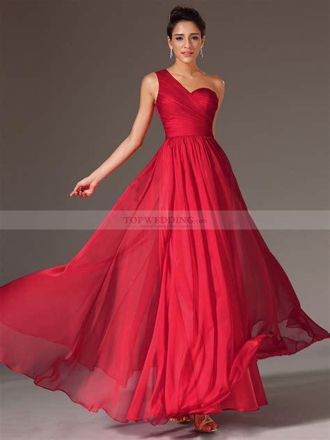 Design Dress Chiffon   one shoulder chiffon a line evening dress with back lace
