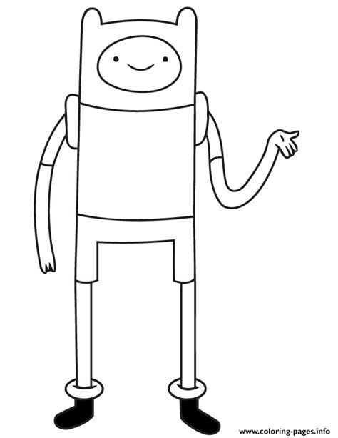 Finn From Adventure Time Coloring Pages Printable Times Coloring Pages