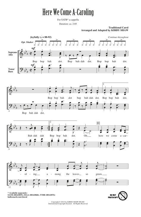 seize the day testo here we come a caroling sheet direct