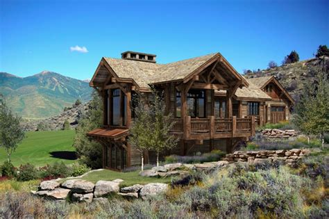 Log Cabin Home by Build A Log Home And Make A Kitchen Home Design