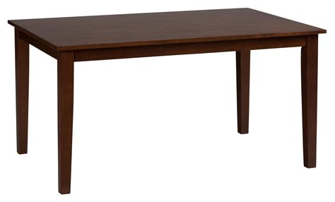 Best Finish For Dining Table Jofran Caramel Finish Rectangle Fix Top Dining Table Beyond Stores
