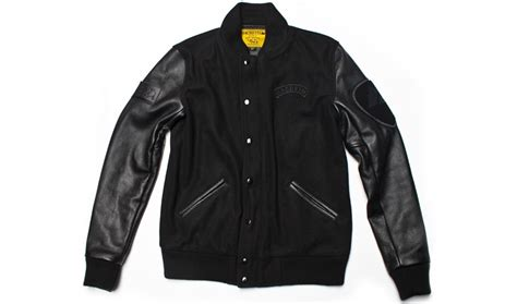 Jaket Varsity Menes Apparel 001 macbeth varsity jacket black black