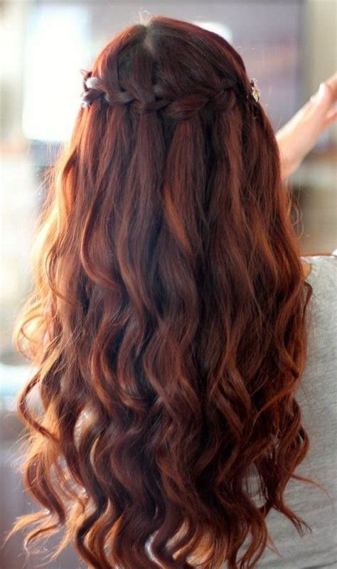 homecoming hairstyles with braids and curls homecoming braided hairstyles waterfall braid with
