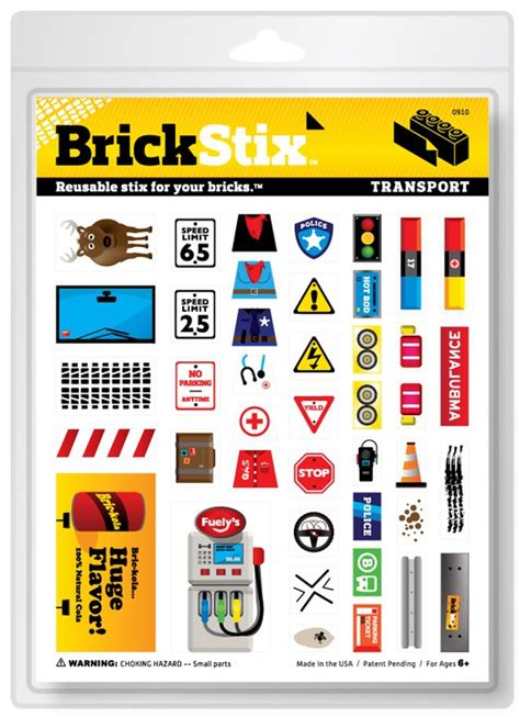 Aufkleber Inventor by Brickstix Restickable Decals For Legos Dreamt Up By