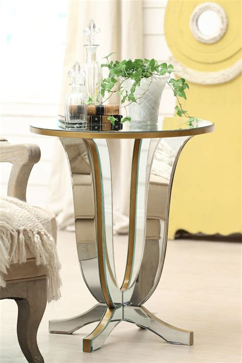 mirrored side table living room furniture images of mirrored stand and side table for living room decoration ideas