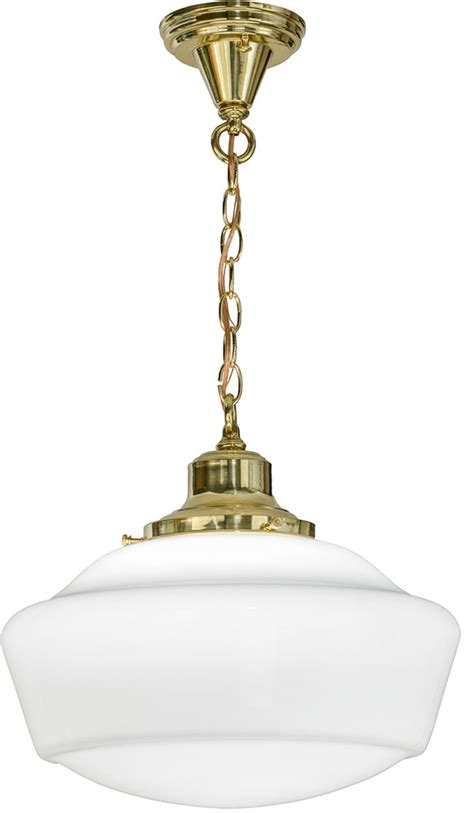 Brass Ceiling Light Fixtures by Meyda 151550 Revival Schoolhouse Polished Brass