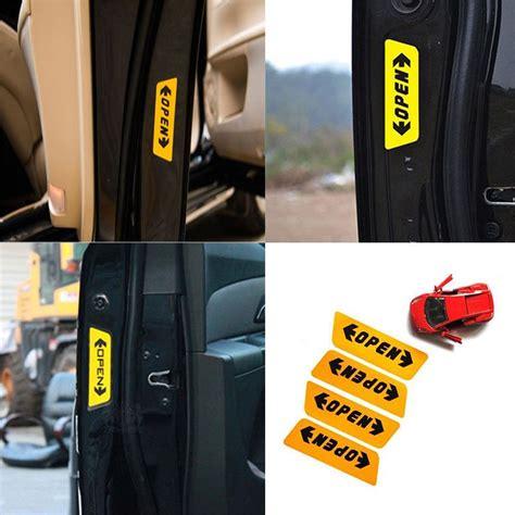 stiker reflective pintu mobil open warning door yellow jakartanotebook