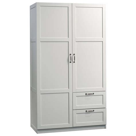 sauder white armoire sauder select wardrobe armoire in white 420495