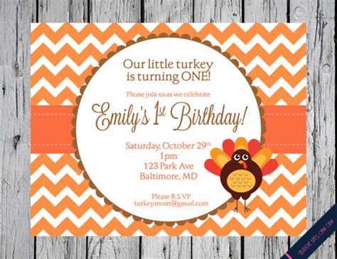 birthday themes for november little turkey printable birthday party invitation invite baby