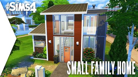 Tiny House For Family Of 4 The Sims 4 Speed Build 321 Small Family Home Youtube