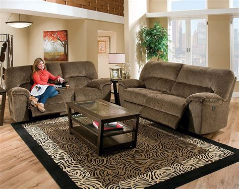 overstuffed sofa and loveseat brown fabric sofa and