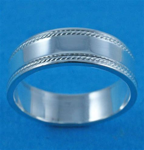 gents silver band ring on jewellery world