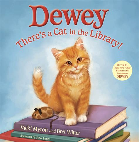 picture books about cats dewey there s a cat in the library