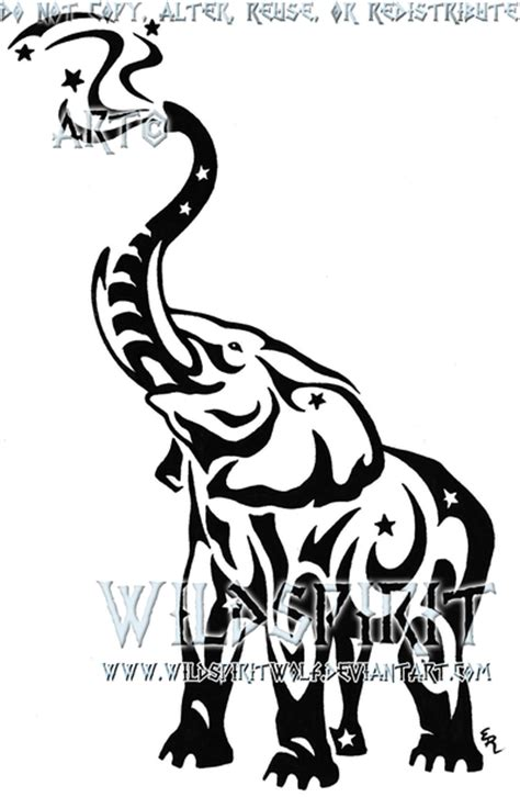 elephant tattoo clipart elephant stencil trunk up