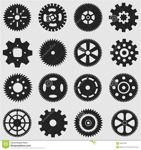mechanical cogs and gear wheel stock vector image 35097949
