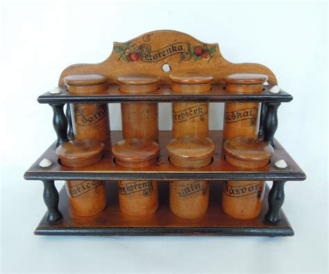 Antique Spice Racks antique wood spice rack cabinet treen from