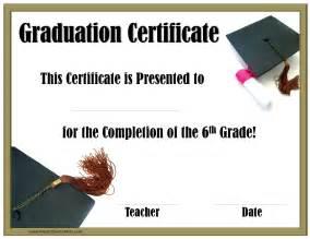 Certificate Graduation Template School Graduation Certificates Customize Online With Or