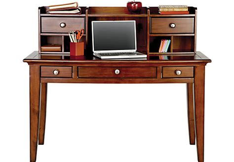 Landon Desk With Hutch Cherry Computer Desks Armoires And Workstations
