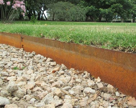 rusted steel garden edging everedge classic cor ten steel