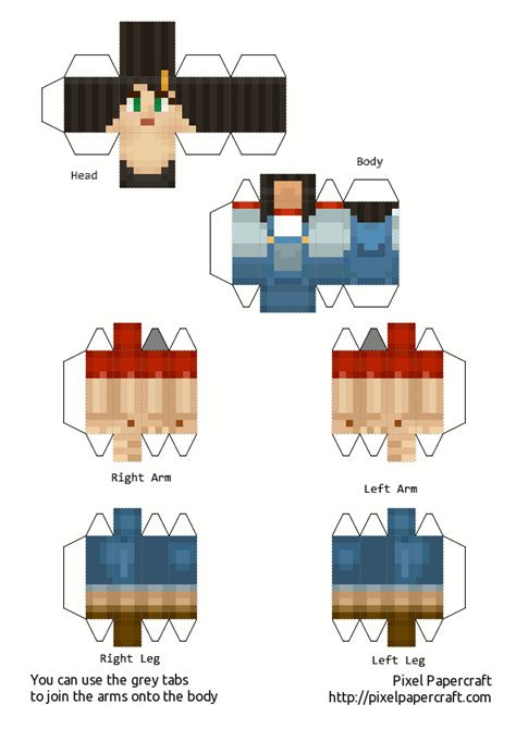 Minecraft Papercraft New - papercraft minecraft story mode all skin